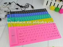 2014 hot selling flexible waterproof silicone keyboard 85 keys