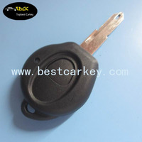 Best price 1 button auto key case for peugeot 206 key, key fob peugeot with battery holder no logo