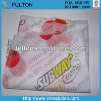 food grade waxed paper for hamburger/sandwich