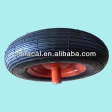 OEM lawnmower rubber wheel 4.00-8 straight burr for Wheelbarrow