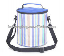High quality Oxford stripe lines durable portable cooler bag
