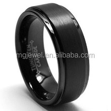 Black Tungsten Man wedding rings jewlry with engraved inside of ring
