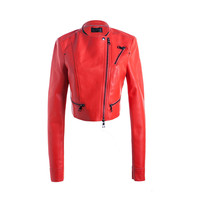 china factory new fashion cheap women red jacket