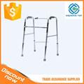 dobrável de alumínio ajustável adulto walker sem rodas