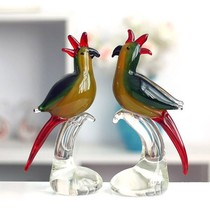 Antiques murano glass birds animal