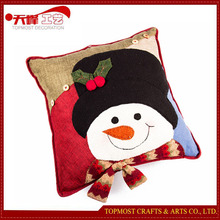 Handmade Christmas Decoration Polyester Snowman Pillow Christmas Cushion