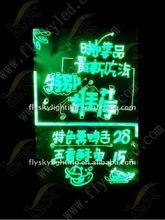 outdoor 30*40 size Aluminium alloy Frame and Mitsubishihardening acrylic LED advertising menu board for shops