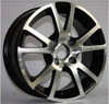 popular silver black alloy wheel with cheap price