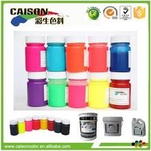 Fluorescent pigment powder for textile printing pigment paste