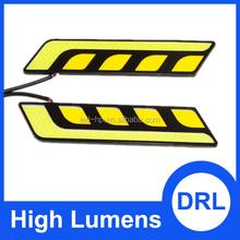 Top Selling 12V 8W COB Car LED DRL Waterproof Bumper Decorative Sticker Daytime Running Light car daylight
