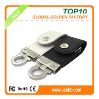 High quality free sample low price wholesale leather usb 2.0 flash disk