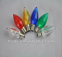 Mini christmas light bulbs Transparent Opaque Acrylic Housing LED C7 Bulbs