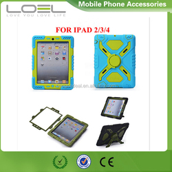 New product Pepkoo armor case for ipad mini, Pepkoo waterproof case for ipad 2/3/4, case for ipad air