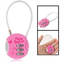 Mini 3 Digit Combination Luggage Bag Suitcase Security Code Lock