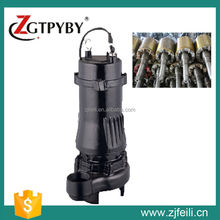 Vertical inline centrifugal submersible sewage used pump with cutter