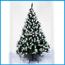 Wholsale Snowing Christmas Tree 150CM Flocking Decoration Christmas Tree Artificial Christmas Tree Decoration