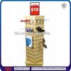 TSD-W1303 Custom Spinning tower wooden slatwall display shelf/slatwall racks for stores/displays and shop fixtures