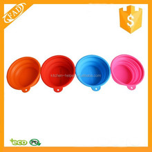 New Portable Outdoor Travel Folding Retractable Silicone Pet Dog Cat Water Food Feeding Bowl