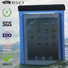high quality products clear pvc waterproof case for ipad mini with string