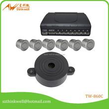 6 sensors pure buzzer rear view car anti-collision sensor system,car parking radar,car blind spot radar sensor