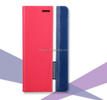 Mix color leather case with card slot Customize case for MICROMAX TRUE4.0