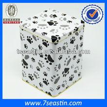 beautiful pet/dog food tin boxes