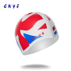 New fashion swim cap silica ge national flag swim caps CN-150325 #