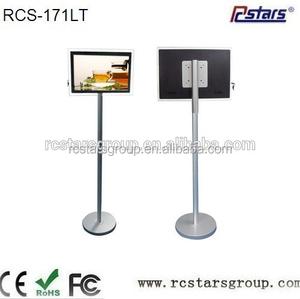 Oem / odm 17 polegada livraison permanent écran tactile kiosque d'affichage numérique