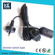 CE ROHS approved salt lamp power cord 110/220v from shenzhen supplier