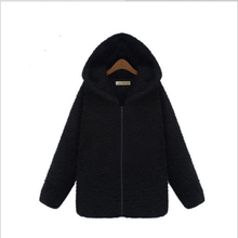 European style women's winter sweater and long sections jacket Pure black fur coat thicken warm padded jackets