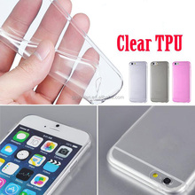 New!! Slim Ultra Thin Colorful Soft clear Rubber TPU Case For iphone 6 Plus 5.5 inch TPU Phone Back Cover