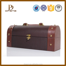 China manufacturer red wine box leather wine box holder