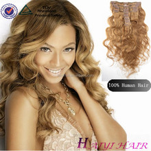 Thick Ends ! Double Drawn Factory Cheap Popular Natural Hair Extensions Clip In