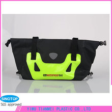 25L black PVC Roll-top fashion waterproof hand bag for traveling