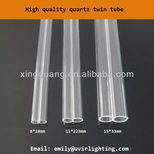 Quartz twin tube for twin infrared heater