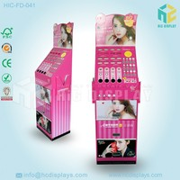 Paper material folding display with drawer,retail store display for make up blusher