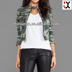 2015 new arrival women fashion camo winter jackets camo jacket JXJ24048