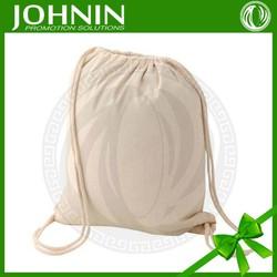 Top quality customize logo printing blank cotton drawstring bag