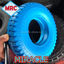 250-4 Pu wheel/wheel barrow solid rubber wheel