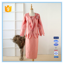 Hot Sales and fashion shantung embroidery design women church suits