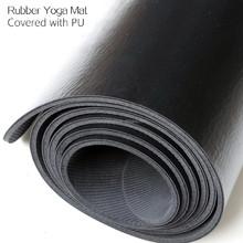 Hochwertige natürliche gummi yoga-matte mit pu