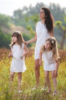 mommy and child dress family set clothes white lace frocks for adults