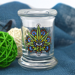 420 Glass airtight stash, 4 oz spice container, 420 glass jars