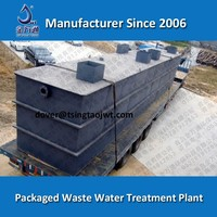 Food waste water treatment and beverage waste water management plant