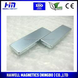 High quality NdFeB magnet, neodymium magnet, blue zinc block shape magnet N35, N38, N42, N45, N48, N50, N52 (ROHS)