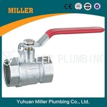 MILLER dn25 red lever handle 600 wog brass ball valve ml-2016