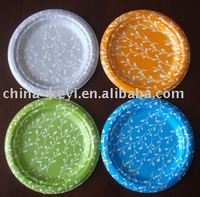 colorful disposable paper plate