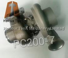 PC200-7 excavator turbocharger for 6D102 engine turbocharger
