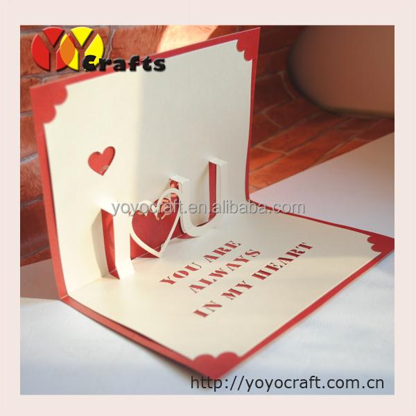 Handmade Cards Hearts 3d Pop up Heart Shape Handmade