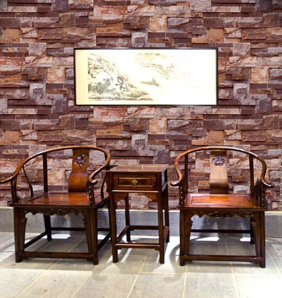n-16051 큰 꽃 집 벽 장식 벽지, 벽지 인테리어 벽돌-벽지 또는 벽 ...